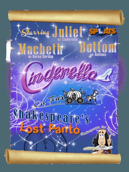Shakespeare Lost Panto Cinderella Poster